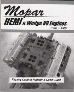 Mopar, Dodge, Chrysler Hemi & Wedge Engine Casting