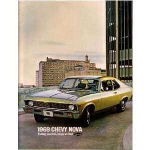 1969 CHEVROLET NOVA Sales Brochure Literature Book
