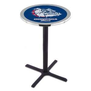 42 Gonzaga Bar Height Pub Table   Cross Legs   NCAA
