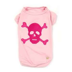 Pink Kwigy bo Cave Canis Skull Dog T shirt Xx Small Pet