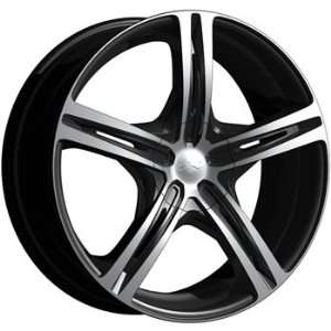 CX CX17 20x10 Machined Black Wheel / Rim 5x4.5 & 5x120 with a 40mm