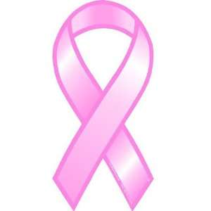 Breast Cancer Awareness Car Magnet   Pink Ribbon Automotive