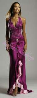 /bridesmaid Party Gown Prom Cutaway Dress Custom made all size