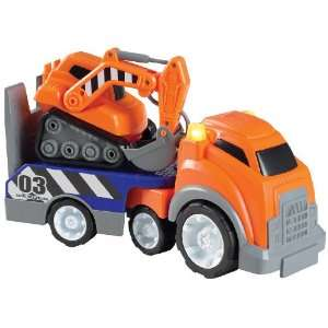 Small World Express Preschool Toys Mega Trucks   Back Hoe