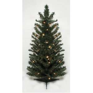3 Pre Lit Canadian Pine Artificial Christmas Tree   Clear