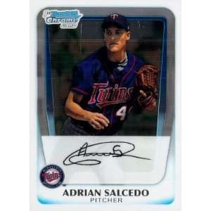 Adrian Salcedo Minnesota Twins 2011 Bowman Chrome Prospects #BCP58