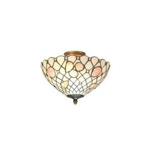 Dale Tiffany Art Glass Newport Flush Mount Ceiling Light