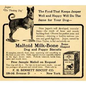 Bone Dog Puppy Biscuit Bennett   Original Print Ad