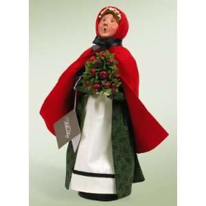 Byers Choice Carolers   Colonial Woman with Apple Cone