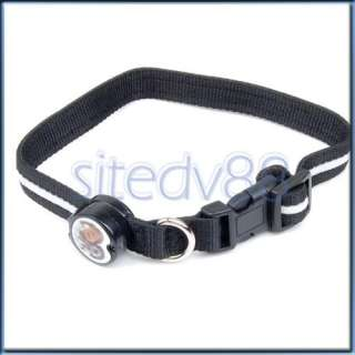 Blue LED Flashing Light Lamp Dog Pet Nylon Safe Collar