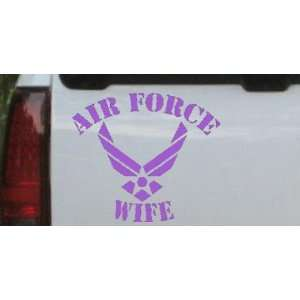 Purple 16in X 18.1in    Air Force Wife Military Car Window Wall Laptop