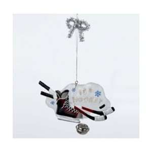 Club Pack of 12 Ice Hockey Plaque Christmas Ornaments 4