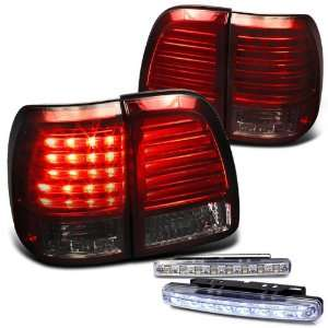 Altezza Tail Light Lamps with DRL 8 LED Fog Bumper Light Pair New Set
