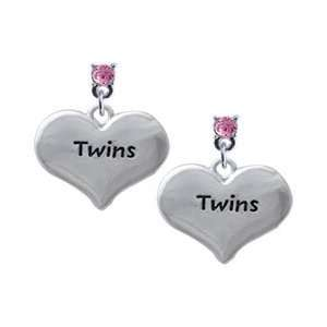 Two Pair of Baby Feet Light Pink Swarovski Post Charm Earr Jewelry