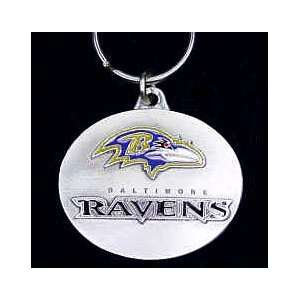 Baltimore Ravens NFL Pewter Key Ring