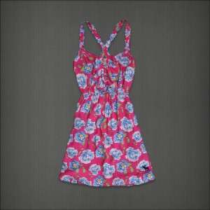 Abercrombie Fitch Women Fallon Floral Pink Sun Dress S