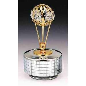 Balloon Silver Gold Plated Swarovski Crystal Music Box