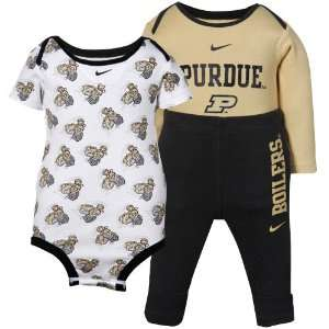 Nike Purdue Boilermakers Infant Black Gold 3 Piece Creeper