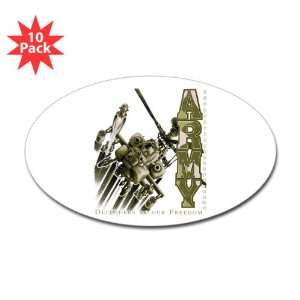 Sticker (Oval) (10 Pack) Army US Military Defenders Of Our