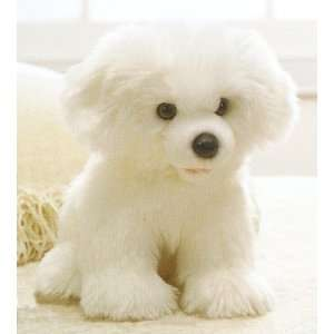 Bichon Puppy Dog Sitting Stuffed Plush Animal Toys