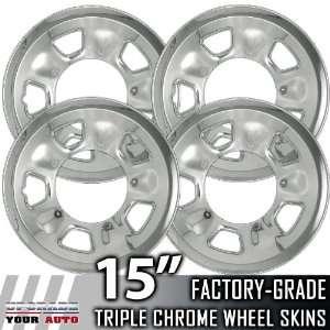 96 02 GMC SAFARI 15 Chrome Wheel Skin Covers Automotive