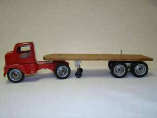 TONKA TOYS 1953 No. 575 Logger Flat Bed Truck and Trailer