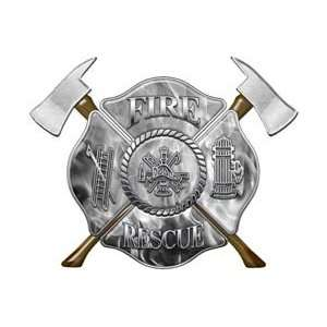 Firefighter Fire Rescue Firefighter Decal Inferno Gray 6