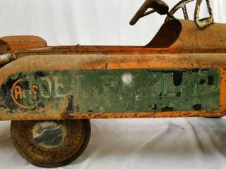 Old Vintage Estate Pressed Steel Dump Truck Pedal Car