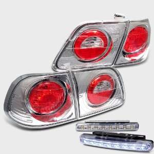 Eautolight Honda Civic Sedan 4 Door Altezza Chrome Tail Light Lamps