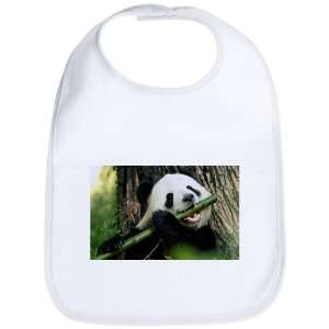 Baby Bib Cloud White Panda Bear Eating