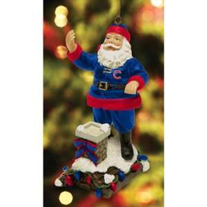 Rooftop Santa Christmas Tree Ornament   Chicago Cubs Sports