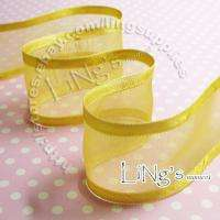25 YD Satin Edge Organza Ribbon Wedding Party Favor Decor
