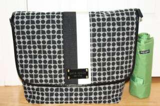 NWT Kate Spade Baby Diaper Classic Dot Noel Messenger Bag Large w