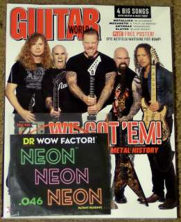 GUITAR WORLD November 2011 METALLICA Big 4 + FREE POSTER & Guitar .046
