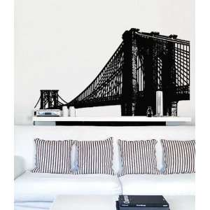 Vinyl Wall Art Decal Sticker Brooklyn Bridge NYC Art