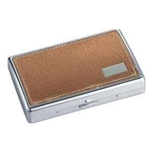 New   Vienna Brown Synthetic Leather Cigarette Case