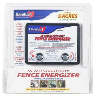 SS 725CS AC Powered Light Duty Electric Fence Energizer 5 Acre Range