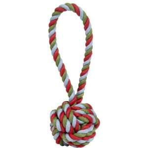 Harry Barker Cotton Rope Tug and Toss Toy   Red Green Blue