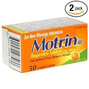 Motrin IB 200 mg Pain Reliever/Fever Reducer Tablets   50 Count (Pack