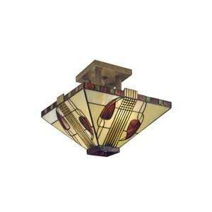 Dale Tiffany 2726 2LTF Mission 2 Light Semi Flush Mount in
