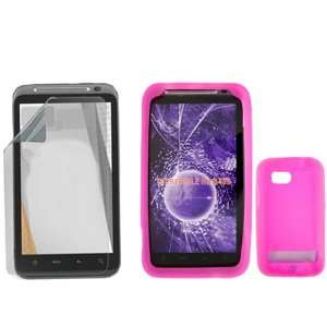 iNcido Brand HTC Incredible HD 6400 Combo Trans. Hot Pink