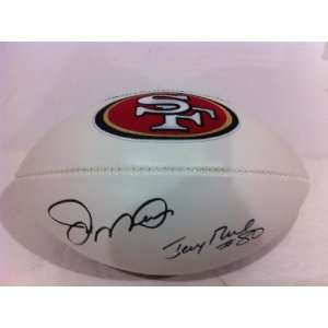 Joe Montana & Jerry Rice Hand Signed Autographed Fullsize