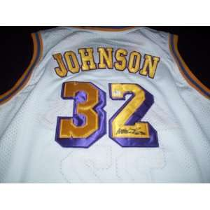 Magic Johnson Autograph Los Angeles Lakers Jersey