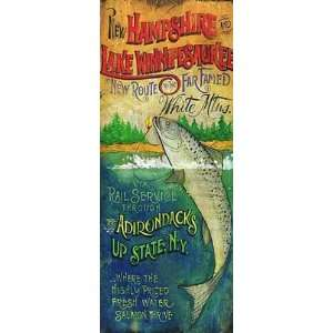 Signs   White Mountains Lake Fishing Sign Patio, Lawn & Garden