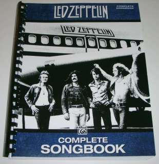 Led Zeppelin COMPLETE SONGBOOK 79 Songs Lead Sheets TAB