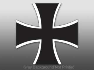 German Iron Cross Sticker   decal bumper germany europe
