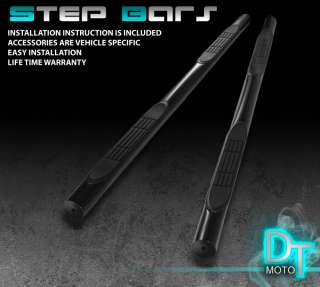 06 HONDA CRV 3 NERF SIDE STEP BAR RUNNING BOARD BLACK POWDER COATED