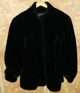 Beautiful Ladies Super Soft Black Faux Fur Coat Large