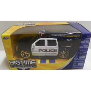 Cadillac Escalade Esv in Color Black/white Police Logos Toys & Games