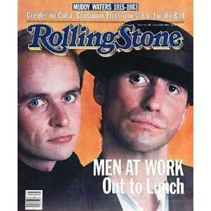 Rolling Stone Magazine # 398 June 23 1983 Men At Work